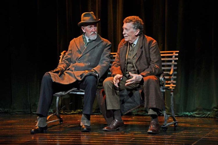 Roy Sampson as Mycroft and Robert Powell as Sherlock in in  Sherlock Holmes: The Final Curtain  which plays Cardiff's New Theatre until June 30, 2018 Photo: Nobby Clarke.