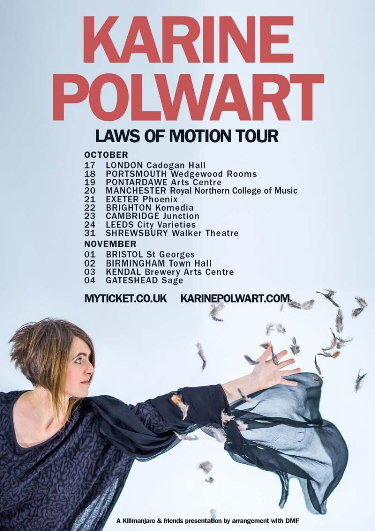 Karine Polwart brings her Laws of Motion tour to South Waleson October 19