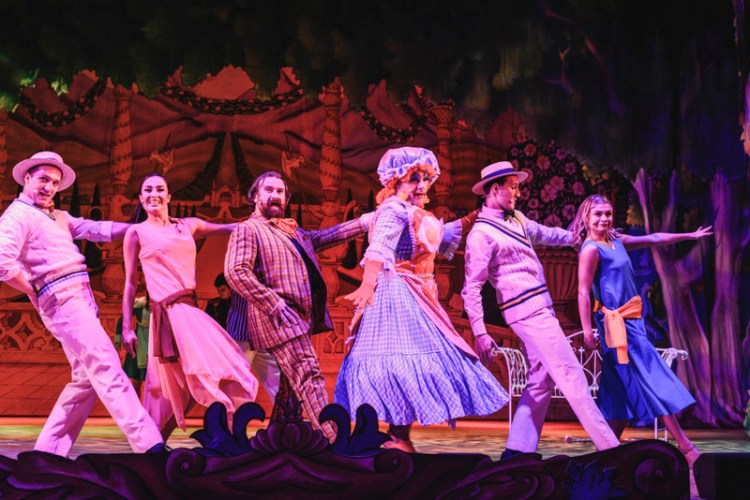 The cast of Sleeping Beauty on stage at Newport Riverfront. Photo Credit Kirsten McTernan
