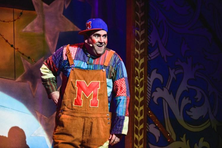 Richard Elis as Muddles Midges in the Newport Riverfront pantomime, Sleeping Beauty which runs until January 6, 2019. Photo: Kirsten McTernan