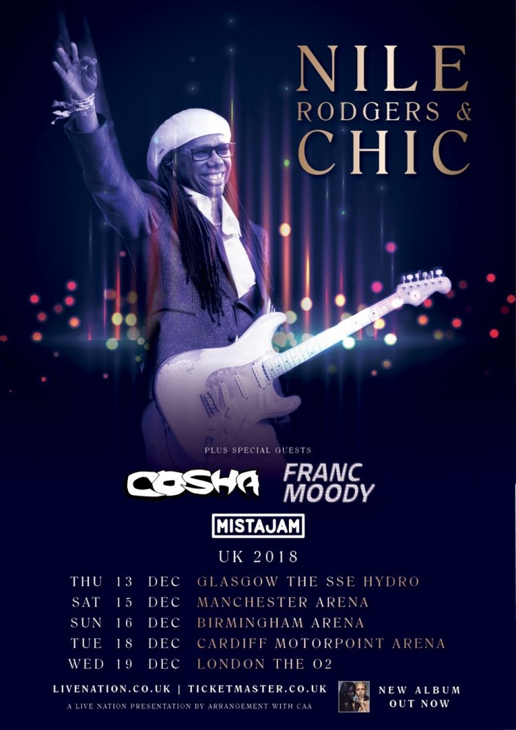 Nile Rodgers & CHIC will play Cardiff's Motorpoint Arena on December 18