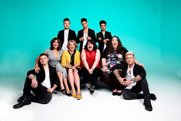 The cast of The Band which plays Swansea Grand from January 29 to February 2, 2019.