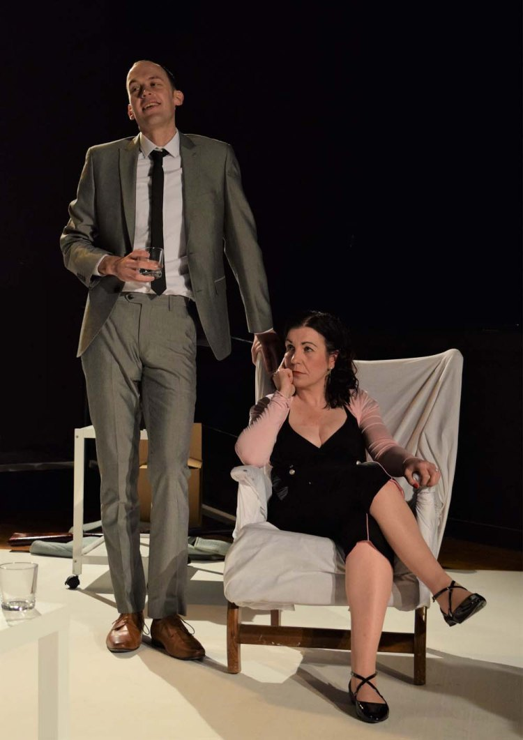 Daniel Sean and Julia Swain in Theatre aDHOC's presentation of  Who's Afraid of Virginia Woolf?  Photographs by Joe Marshall