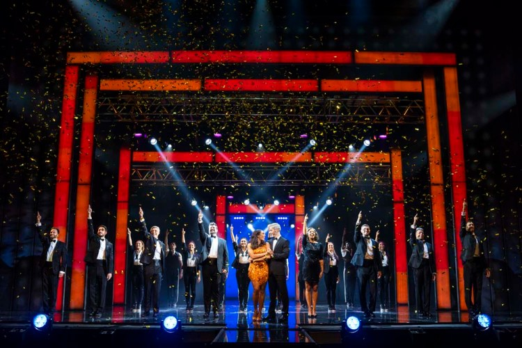 Alexandra Burke and Company in The Bodyguard which runs at Wales Millennium Centre's Donald Gordon Theatre from April 16 to 27 2019. Photo: Paul Coltas