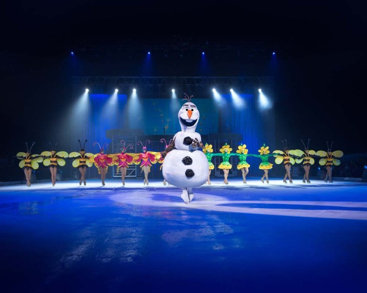 Frozen  forms part of Disney on Ice at Cardiff's Motorpoint Arena which runs from April 24 - 28, 2019