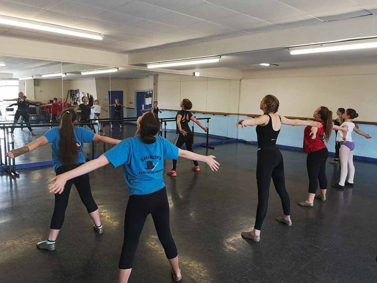 Emma Woods presenting a masterclass at the BBO Dance Workshops in Newport's Dolman Theatre. Photo: Andy Howells