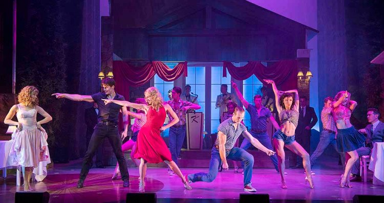 The full company of  Dirty Dancing - The Classic Story on Stage ; Photo credit Alastair Muir