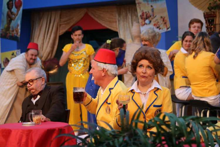 Pam Wiener and Richard Thomas feature in Everyman Theatre's presentation of  Hi-De-Hi!  which opens the Cardiff Open Air Theatre Festival summer season at Sophia Gardens from June 27 to July 6, 2019.