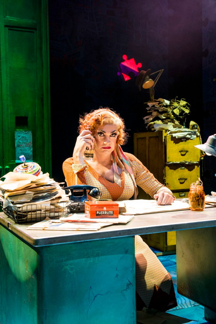 Craig Revel Horwood stars as 'Miss Hannigan'. in Annie at Wales Millennium Centre from August 19 -31, 2019. Photo by Paul Coltas