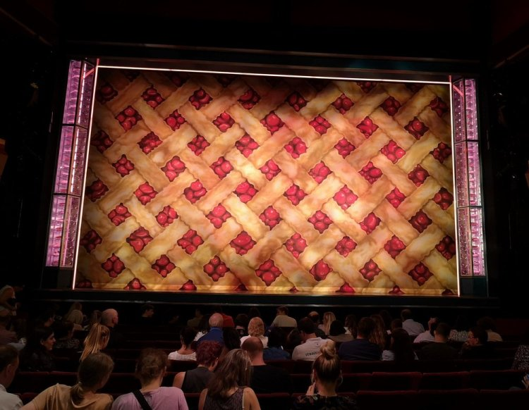 Awaiting the beginning of Waitress the musical at London's Adelphi Theatre. Photograph by Rachel Howells.
