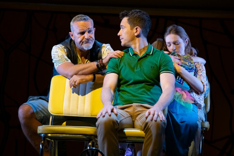 Mark Moraghan as Grandpa, Gabriel Vick as Richard, Lucy O'Byrne as Sheryl and Evie Gibson as Olive in Little Miss Sunshine. The show runs at Cardiff's New Theatre until September 14, 2019 Picture: Richard H Smith