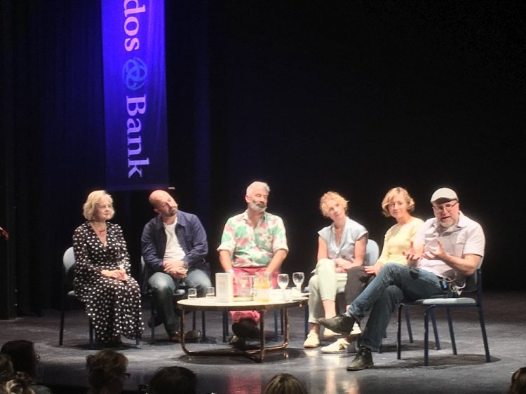 The panel come together at Abergavenny Borough Theatre for  The Way We Eat Now.  Photo: Entertainment South Wales