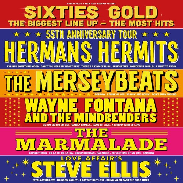 Sixties Gold returns to the National Concert Hall of Wales on Thursday 17 October