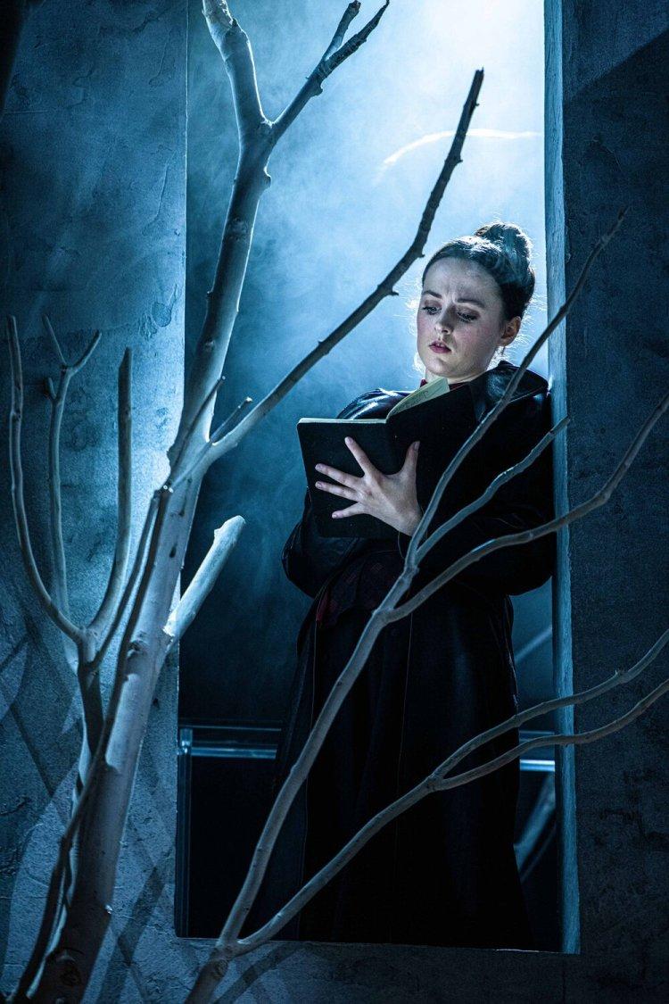 Eilidh Loan as Mary Shelley in  Frankenstein.  Photo by Tommy Ga-Ken Wan