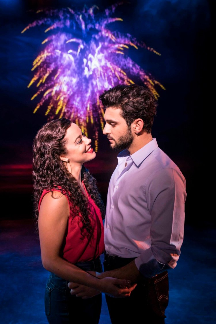 Philippa Stefani 'Gloria Estefan' and George Ioannadis 'Emilio Estefan' in On Your Feet which   continues at Wales Millennium Centre until October 26 Photo Johan Persson