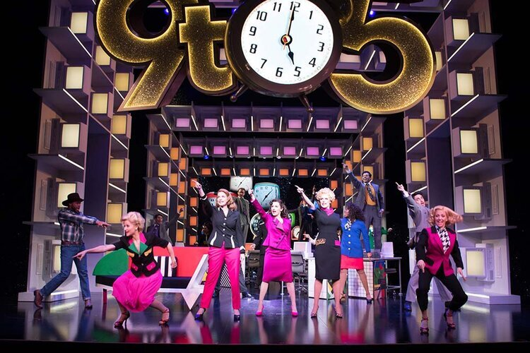 Wales own Caroline Sheen featured in the UK tour of 9 to 5 at Wales Millennium Centre.