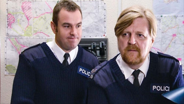 Keiron Self and Boyd Clack in High Hopes. Photo: BBC IPlayer