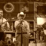 Ralph Stanley (center) at Carter Fold photo by Brad Auerbach