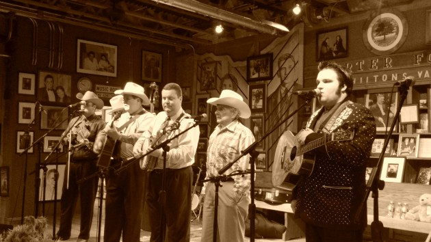 Ralph Stanley (second from right) photo by Brad Auerbach