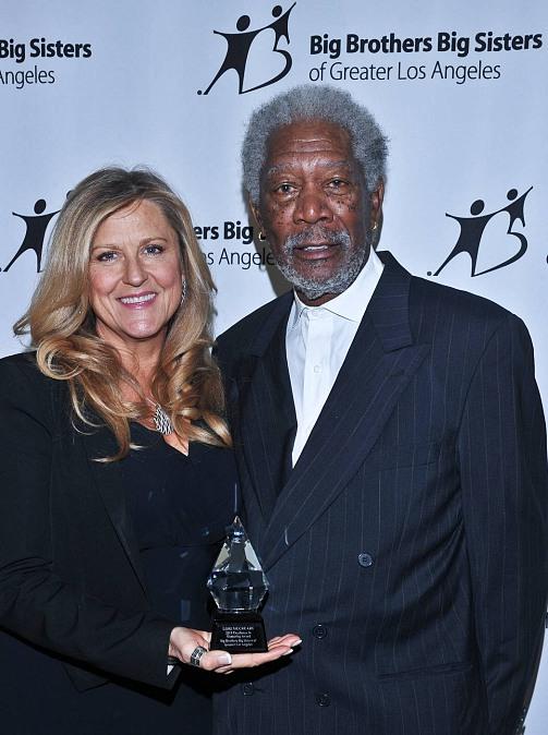 Morgan Freeman presented Monitoring Award to Lori McCreary