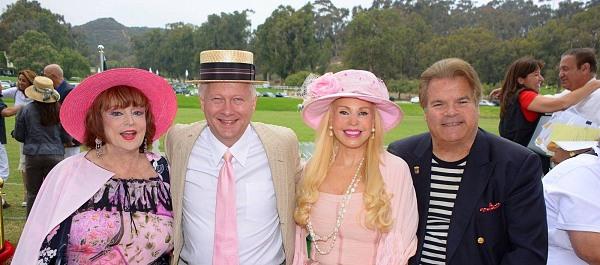 Marci, Larry Link, Brenda Dickson, Ed Lozzi at Polo Match