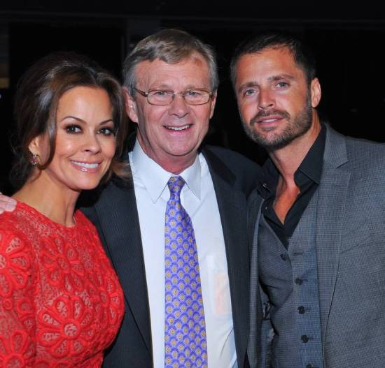 Operation Smile Co-Founder Bill Magee (center) flanked by Smile Ambassadors Brooke Burke-Charvet & David Charvet