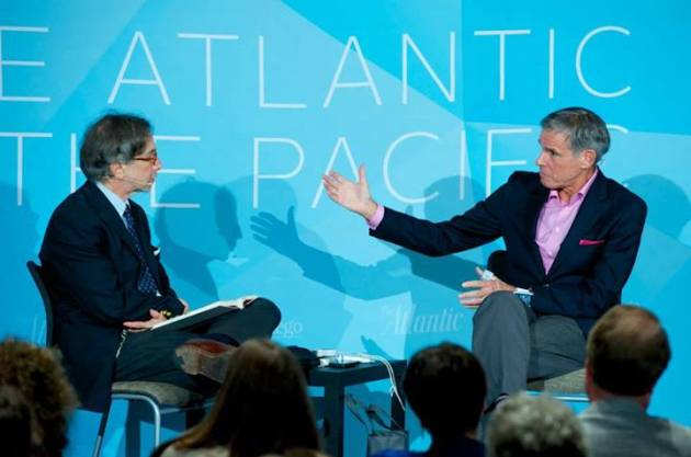 Eric Topol (right). The Atlantic and Bob Ross Photography.