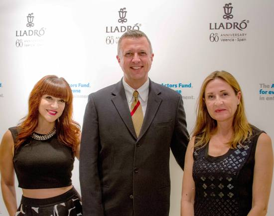 Singer (Wicked) Shoshana Bean, Keith McNutt (Actors Fund) and Rosa Lladro at Reception