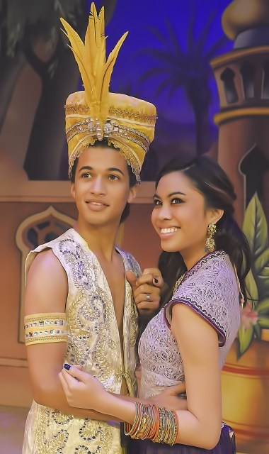"""Aladdin"" Jordan Fisher & ""Princess"" Ashley Argota (photo by Clarence Alford)"