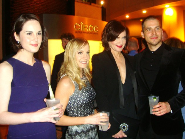 Downton Abbey cast (from left) Michelle Dockery, Joanne Froggatt, Elizabeth McGovern, Rob James-Collier