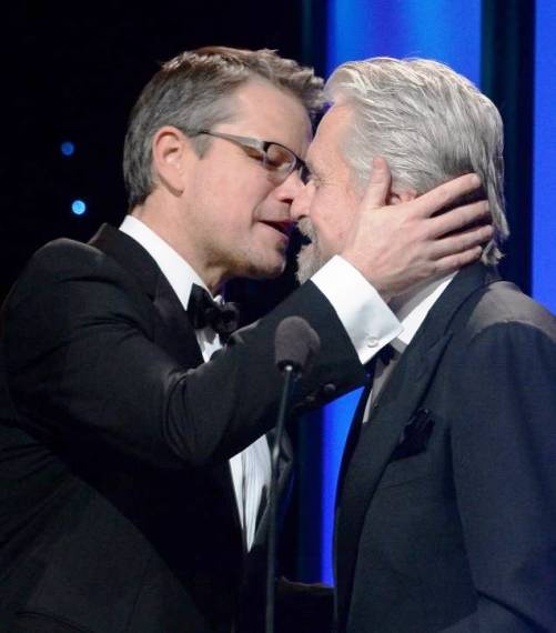 Matt Damon & Michael Douglas at UNICEF