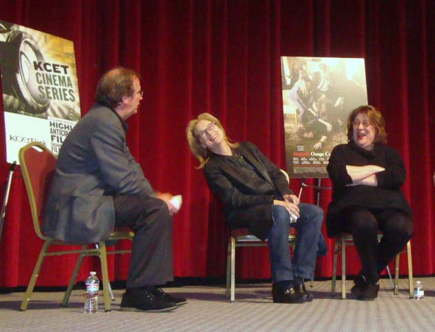 Pete Hammond, Meryl Streep and Margo Martindale,  photo by Margie Barron