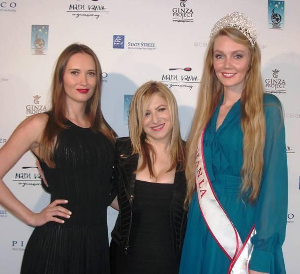 Olga Gorshkova TV Host with ABL CEO, Anna Ouroumian & Miss Russia L.A. Olga Kavaleko