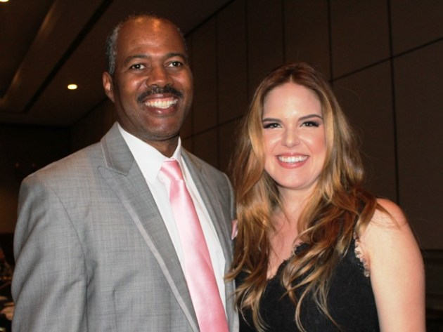 Anthony Griffith, Actor/Come​dian with Radio Personalit​y, Jillian Escoto at Dinner of Champions