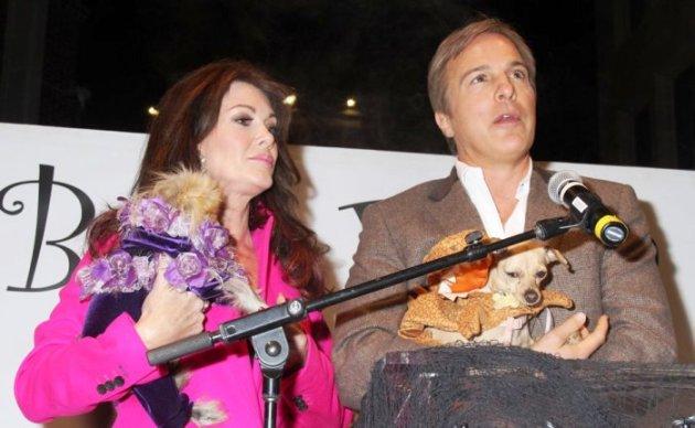 Lisa Vanderpump (BH Housewives) with Giggy & Robert Koopacik & his prize winning pup