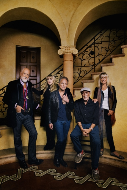 Today: Mick Fleetwood, Stevie Nicks, Linsey Buckingham, John McVie, Christine McVie (photo by Danny Clinch)