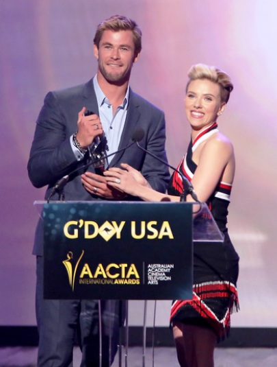Chris Hemsworth & Scarlett Johansson at G'Day LA