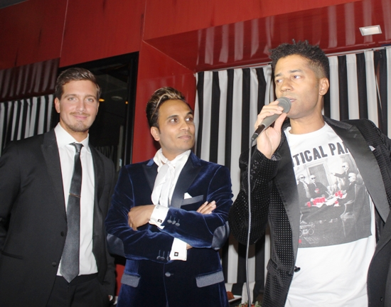 Jacob Busch, Reggie Benjamin & Eric Benet at Mission to Save HER