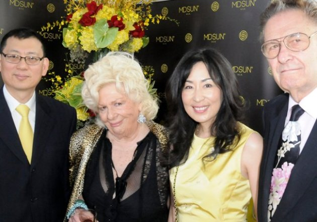 Dr. & Mrs. George Sun, with Actors Renee Taylor & Joe Bologna