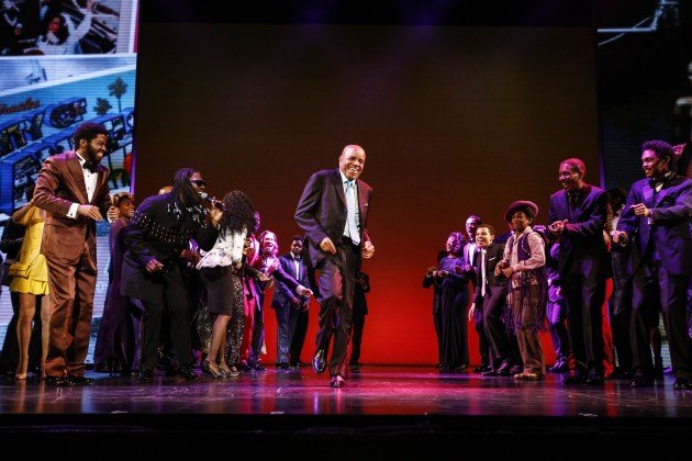 Berry Gordy at Motown the Musical opening in Hollywood