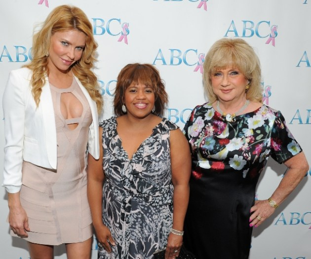 Honorees Brandi Glanville and Chandra Wilson with Gloria Gebbia, President of Associates for Breast Cancer