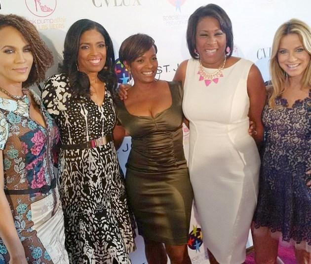Nicole Ari Parker, Areva Martin, Vanessa Bell Calloway, Pat Harvey and Dorothy Lucey at the Pink Pump Affair