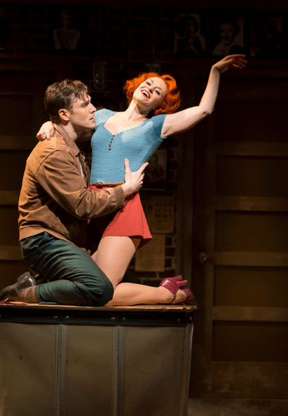 Tyler Hanes as Bill Calhoun and Megan Sikora as Lois Lane. Photo by T Charles Erickson.