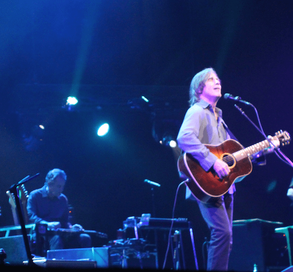 Greg Leisz (left) and Jackson Browne (photo by Brad Auerbach)