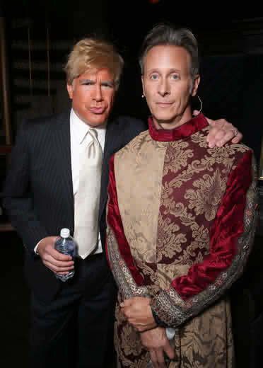 Bryan Batt as Trump and Steven Weber lampooning himself at LesGirls15 (ToddWilliamson/WireImage)