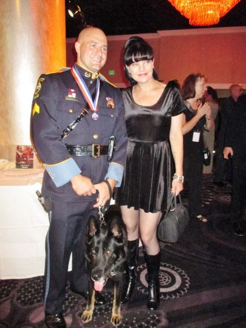 Hero Dog Dax, Officer Chris Alberini, Pauley Perrette