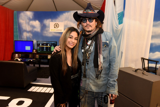 Fifth Harmony's Ally Brooke and Johnny Depp