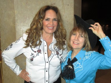 Catherine Bach, Margie Barron at SHARE's Boomtown show