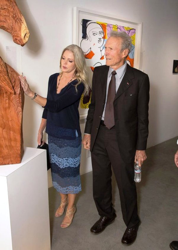 Christina Sandera with Clint Eastwood at Art for Animals