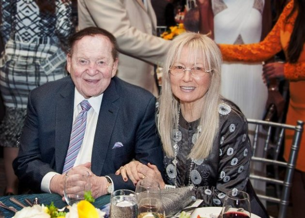 Casino Magnate, Sheldon & Dr. Miriam Adelson at Yad Vashem Fundraiser (Photo Credit: Kyle Espeleta)